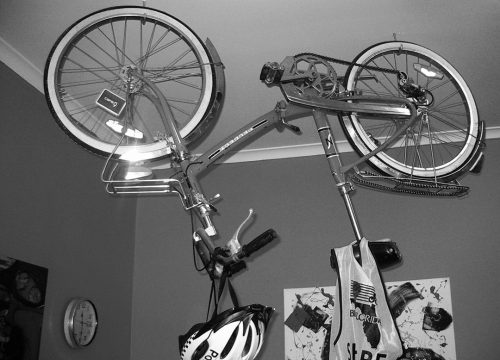 Bike Hanging precision picture hanging work in Melbourne